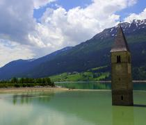 The Reschensee is just a few minutes away